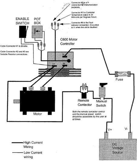 c600 dc motor controller wiring diagram