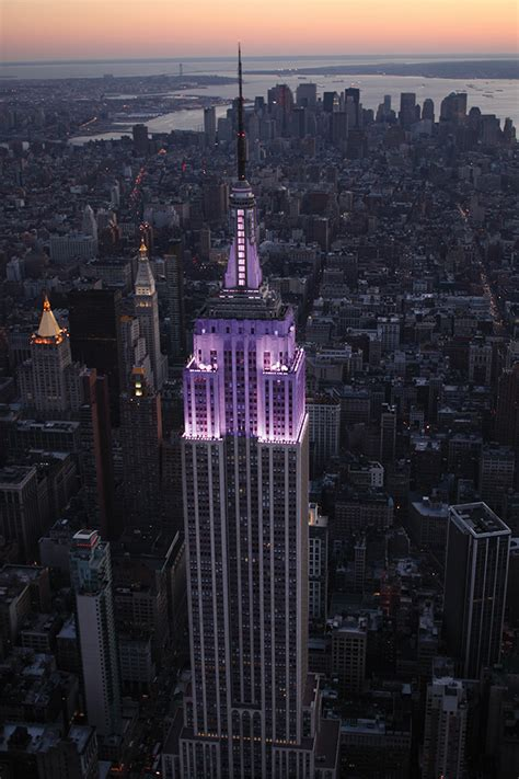 empire state lights today empire state building lights purple for 2013