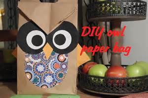 How To Make A Paper Bag Owl - diy owl paper bag gift bag s 252 223 e geschenkt 252 te tutorial