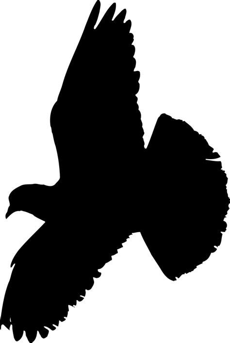 OnlineLabels Clip Art - Pigeon (Silhouette)