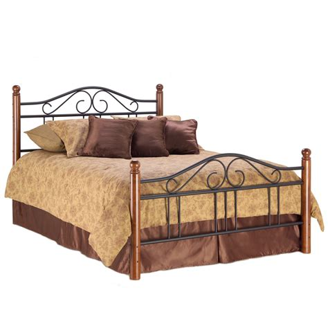 wood and metal bed weston iron wood bed matte black maple south west style