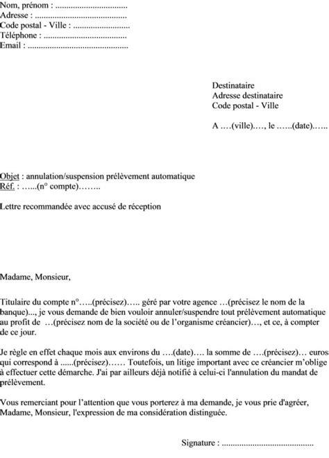exemple lettre opposition prelevement contrat de travail
