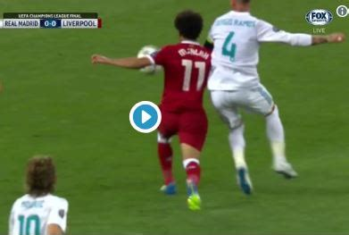 (video) salah subbed after he's brutally injured by
