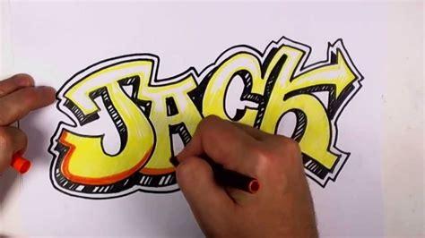 draw graffiti letters jack  graffiti lettering