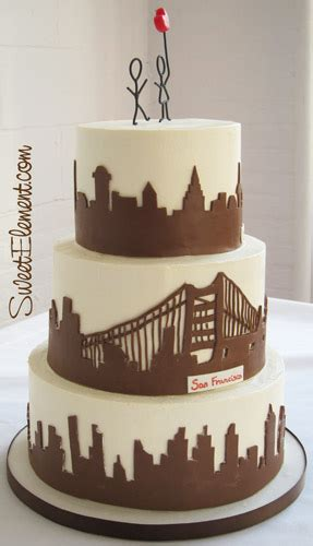 wedding cakes new york city san francisco skyline wedding cake sweetelement