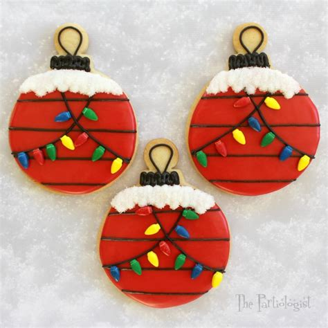 the partiologist snoopy s ornament cookie