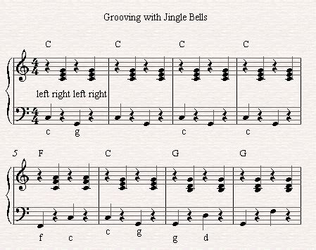 contemporary piano chords for jingle bells easy festooning