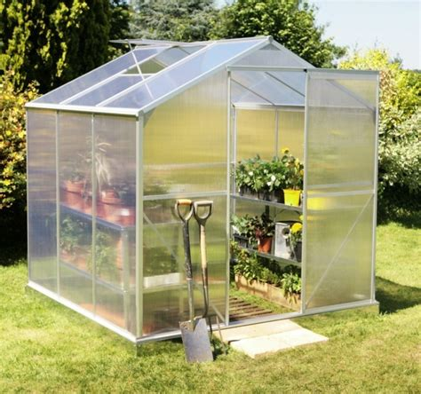 sunor modular aluminum poly sheet backyard greenhouse kits