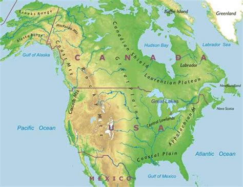 physical geography map of usa horseback vacations america