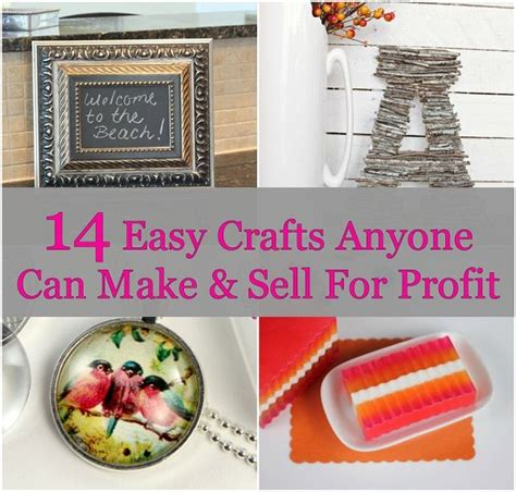 Free To Sell Handmade Items - 14 easy crafts anyone can make sell for profit saving