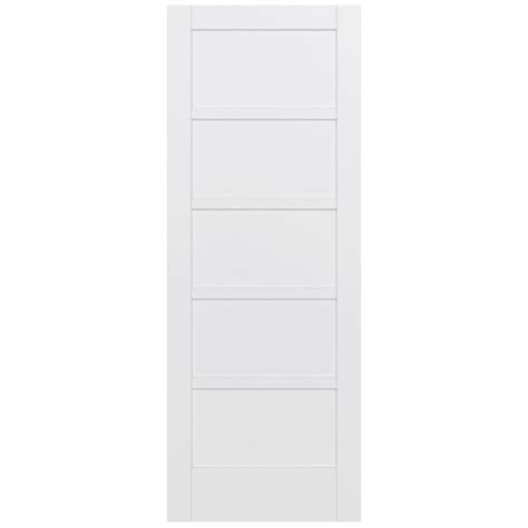 Jeld Wen 36 In X 96 In Moda Primed White 5 Panel Solid 96 Interior Doors