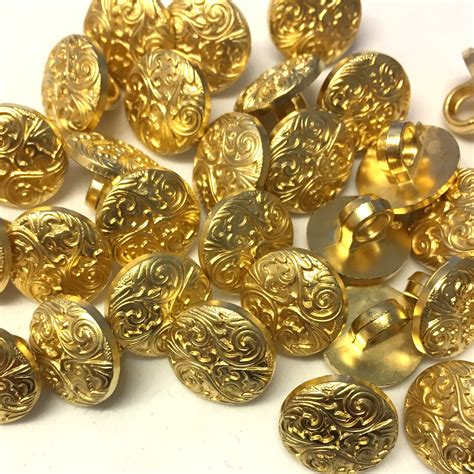 decorative buttons gold 13mm gold metallic decorative buttons 10 pack the