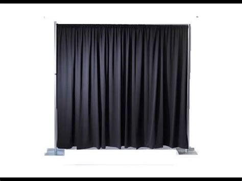 black pipe and drape transform any space with pipe and drape rentals toronto