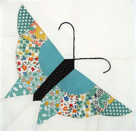 Patchwork Butterfly Pattern - pieced butterfly pattern q is for quilter