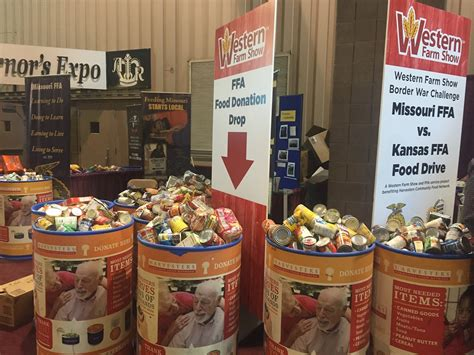 Food Pantry Kansas City Mo by Mo And Ks Ffa Students Collect Nearly 6 000 Items In