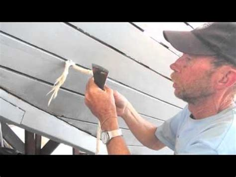 wooden boat repair videos wooden boat repair dry hull caulking 2 youtube