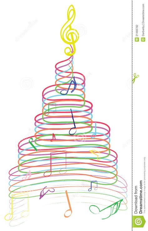 musical notes christmas tree image tree with stock illustration image of notes 21466782