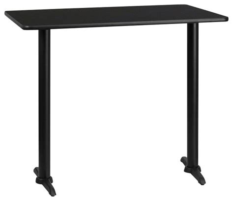 42 inch high bistro table flash furniture 30 inch x 60 inch rectangular bar table
