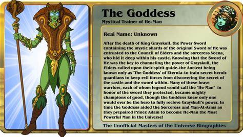 character biography list the goddess he man pinterest the universe
