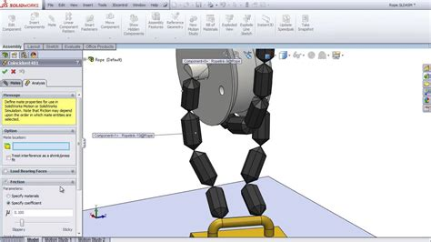 solidworks tutorial chain rope animation in solidworks doovi