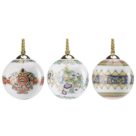 versace set of 3 ball shaped christmas bell ornaments 2017