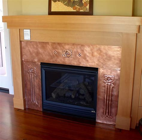 copper fireplace surrounds