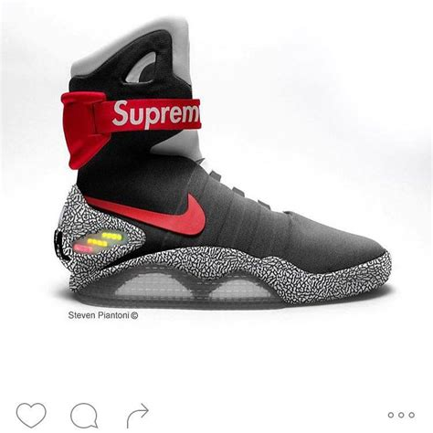 supreme clothing shoes supreme nike air mag in 2019 zapatos nike