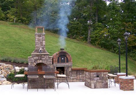 Cook Family Wood Fired Pizza Oven and Fireplace Combo in