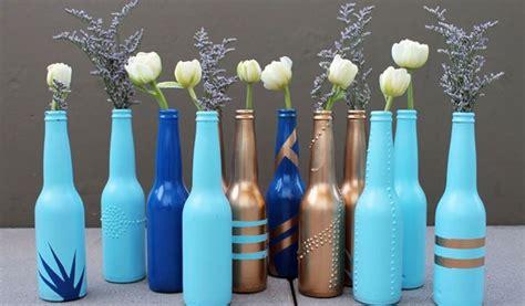 teks prosedur membuat botol kaca cara membuat vas bunga diy cantik dari botol kaca bekas