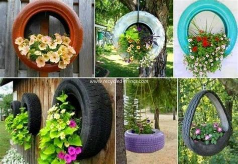 how to diy old tire garden ideas recycled backyard cool upcycled garden decor projects recycled things