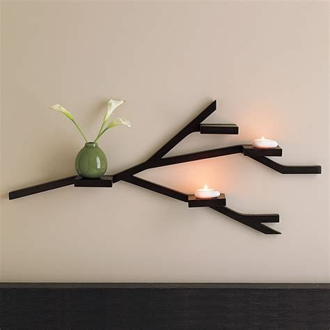 wall shelves design diy west elm inspired branch shelves creative unravelings