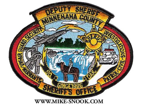 Minnehaha County Sheriff S Office by Mike Snook S Patch Collection State Of South Dakota