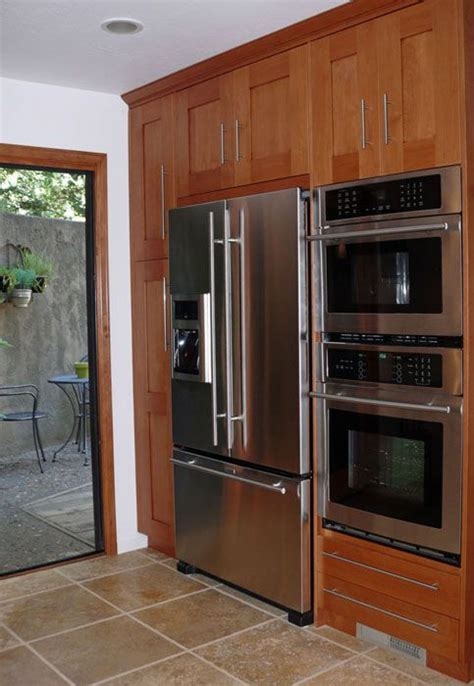 Kitchen Cabinet For Wall Oven by Pantry Refridgerator Wall Oven On One Wall Wall Cabinet