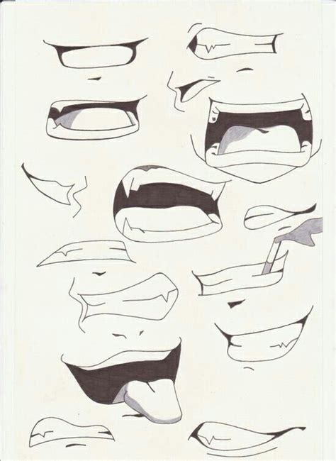 Drawing Mouths by Boca Anime Zeichnen Tattos Ect Anime