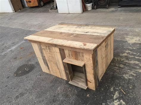 dog house made out of pallets dog house made of wooden pallets 101 pallet ideas