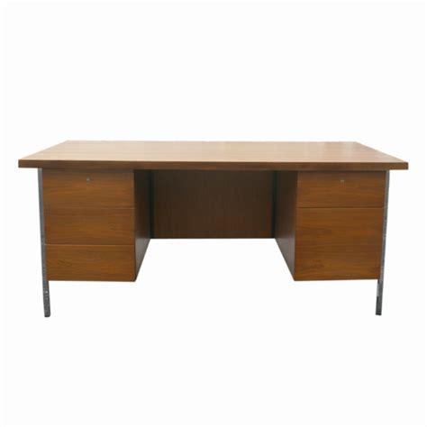 Modern Wooden Desk Mid Century Modern Florence Knoll Wood Desk Ebay