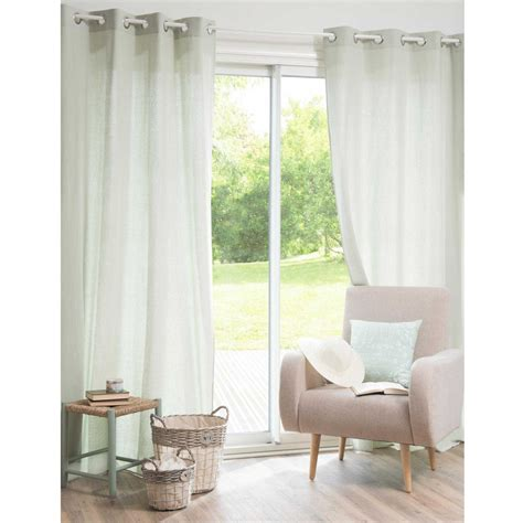vorhang aus baumwolle mit 214 sen gr 252 n 135 x 250 cm galante - Vorhang Baumwolle