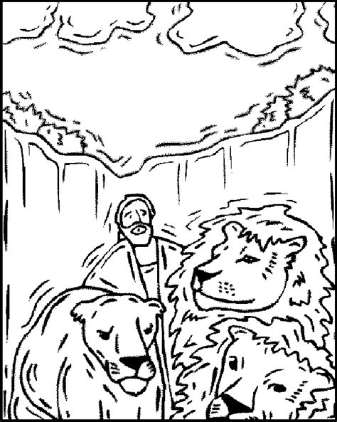 printable coloring pages daniel and the lions den daniel in the lions den coloring pages to print coloring