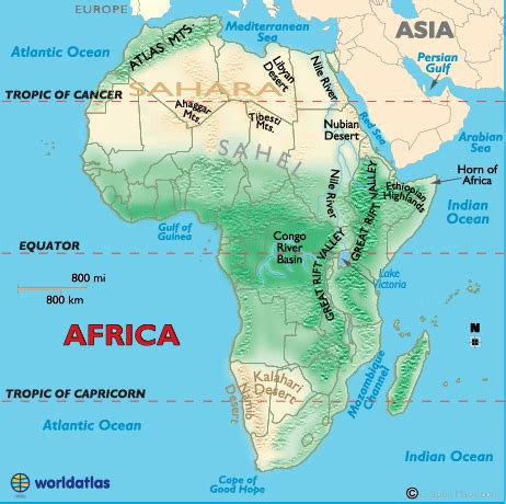 rivers of africa map landforms of africa deserts of africa mountain ranges of