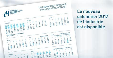 Calendrier Ccq 2018 Cong 233 S Et Vacances De La Construction Ccq