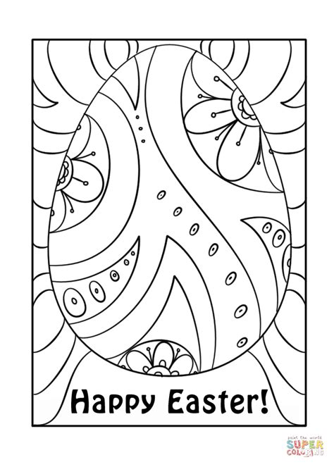 happy easter coloring pages happy easter egg coloring page free printable coloring pages