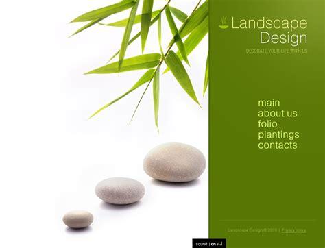 Landscape Design Website Free Landscape Design Flash Template 23657