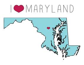 Maryland State Outline Map by Maryland Outline A Smith Of All Trades