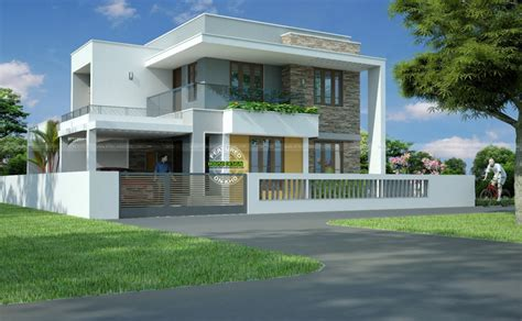 contemporary inspired kerala home design plans acha