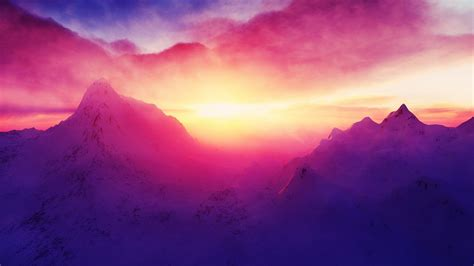 colorful mountains landscape colorful mountain snow nature sunlight
