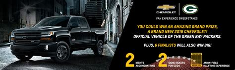 Packers Sweepstakes - chevy packers fan experience sweepstakes markquart eau claire