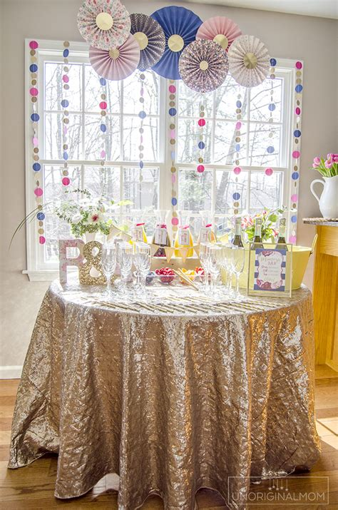 Bar Ideas For Baby Shower by How To Create A Bridal Shower Mimosa Bar Unoriginal