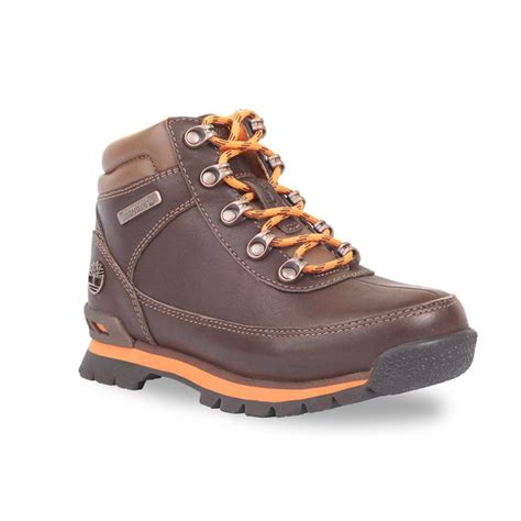 toddlers boots timberland eurohiker toddlers brown orange boot
