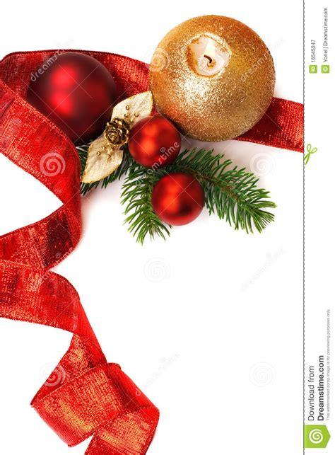 christmas decorations  white background stock image
