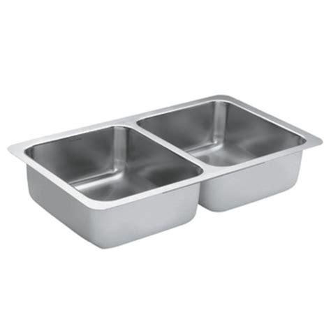 Moen G182 Stainless Steel 18 Gauge Double Bowl Sink Atg Moen Stainless Steel Kitchen Sinks
